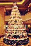 Beautiful Christmas tree. A beautiful Christmas tree in the lobby stock photography