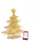 Beautiful Christmas tree with present and decorations Royalty Free Stock Images