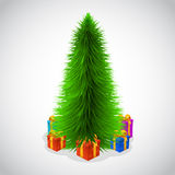 Beautiful christmas tree and presents. Stock Photography