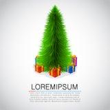 Beautiful christmas tree and presents. Stock Photos