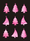 Beautiful christmas tree set Stock Photo
