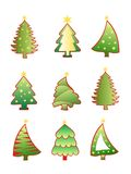Beautiful christmas tree set Royalty Free Stock Images