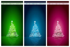 Beautiful Christmas tree set vector background Royalty Free Stock Images