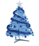 Beautiful christmas tree  on white Royalty Free Stock Photo