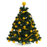 Beautiful christmas tree  on white Stock Image