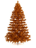 Beautiful christmas tree  on white Stock Photography