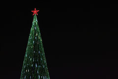 Free Beautiful Christmas Tree With Bright Illumination Royalty Free Stock Images - 66002079