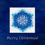 Beautiful Christmas winter background with snowflakes Royalty Free Stock Images