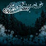 Beautiful Christmas winter blue background Stock Photo