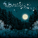 Beautiful Christmas winter blue background Stock Photography