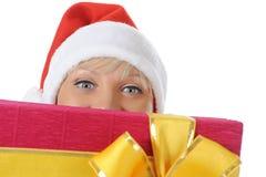 Beautiful christmas woman. Stock Images