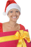 Beautiful christmas woman. Stock Photography