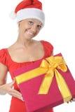 Beautiful christmas woman. Stock Image