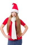 Beautiful Christmas woman Royalty Free Stock Photo