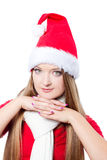 Beautiful Christmas woman Stock Image