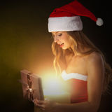 Beautiful christmas woman Royalty Free Stock Photography