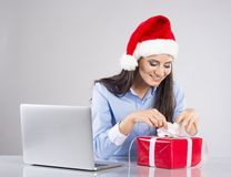 Beautiful Christmas Woman Royalty Free Stock Images