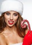 Beautiful christmas woman Royalty Free Stock Photos