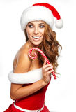 Beautiful christmas woman Stock Images