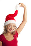 Beautiful christmas woman. New year celebration. Stock Images