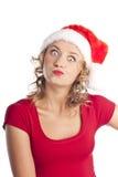 Beautiful christmas woman. New year celebration. Stock Images