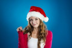 Beautiful christmas woman Stock Image