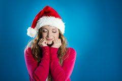 Beautiful christmas woman Stock Photo