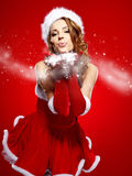 Beautiful christmas woman portrait Stock Images