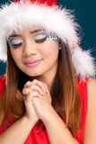 Beautiful christmas woman Stock Photography