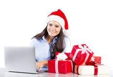 Beautiful christmas woman Stock Images