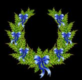 Beautiful christmas wreath Stock Image