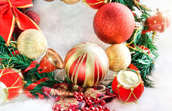 Beautiful christmas wreath Stock Photo