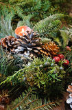 Beautiful Christmas wreath with candles Royalty Free Stock Images