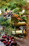 Beautiful Christmas wreath with candles Royalty Free Stock Photos