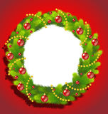 Beautiful Christmas Wreath frame Royalty Free Stock Photography