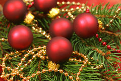Beautiful Christmas-wreath with small glass balls Royalty Free Stock Photography