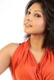 Beautiful chubby woman. Closeup of a beautiful chubby woman royalty free stock photo