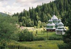 Beautiful church. Carpathian mountains. The church.2005 year Royalty Free Stock Photos