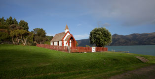 Beautiful church in Akaroa New Zealand Stock Images