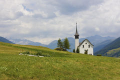 Beautiful church in alpine landscape Royalty Free Stock Photo