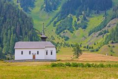 Beautiful church in alpine landscape Royalty Free Stock Photos
