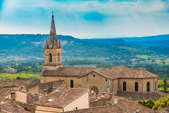 Beautiful church in Bonnieux village, Provence, France. Architec Stock Photo