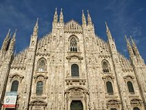 Beautiful church, cathedral of Milan in Itlay royalty free stock photography