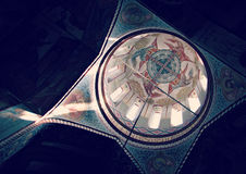 Beautiful Church Ceiling. With sun flowing through. The church is Orthodox Stock Photo