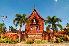 Beautiful church decorated from  terra-cotta. At Thai temple, Thailand Stock Photography