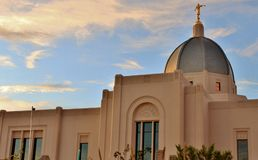 Beautiful Church in the Desert Southwest Royalty Free Stock Images
