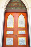 Beautiful Church doors in  Thailand Royalty Free Stock Photos