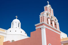Beautiful church in Fira Royalty Free Stock Images