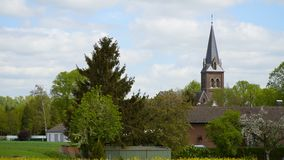 Beautiful Church in Germany against the sky stock footage