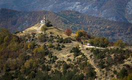 Beautiful church on a hill in Bulgaria Royalty Free Stock Images